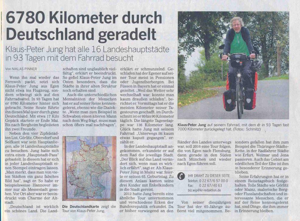Deutschland mit dem Rad 2014